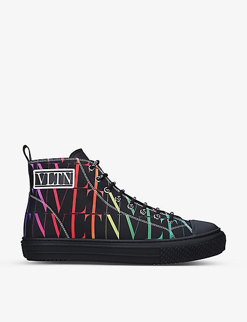VALENTINO GARAVANI: Giggies canvas high-top trainers
