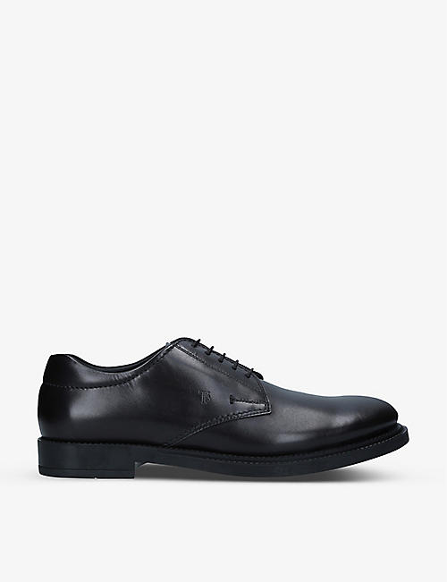 TODS: Lace-up leather Derby shoes