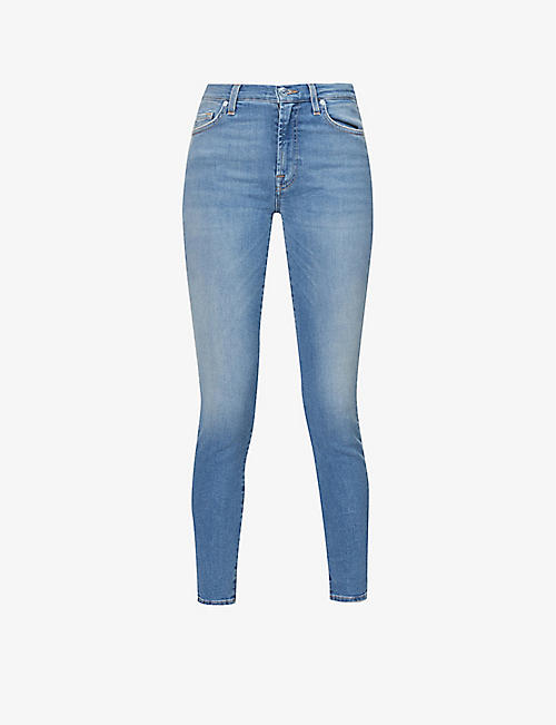 7 FOR ALL MANKIND: Skinny Crop high-rise stretch-denim jeans