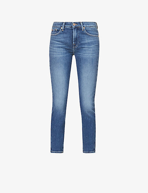 7 FOR ALL MANKIND: Roxanne Ankle skinny mid-rise stretch-denim jeans
