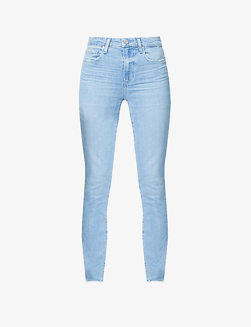 PAIGE: Hoxton Ankle skinny high-rise stretch-denim jeans