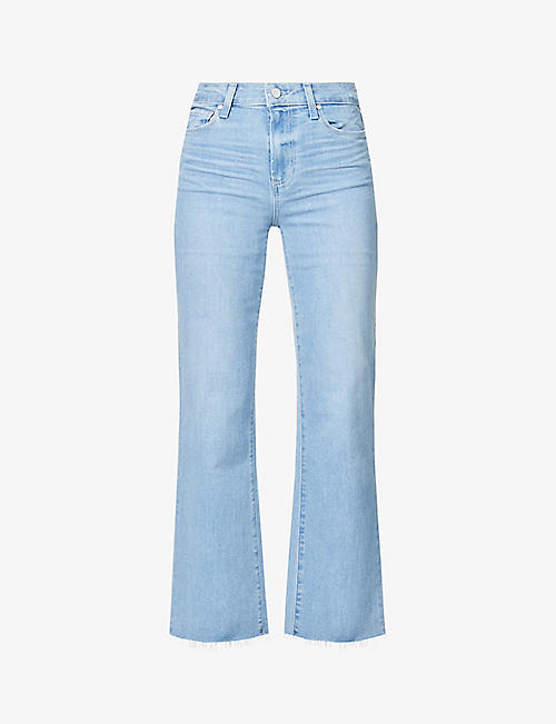 PAIGE: Colette flared high-rise stretch-denim jeans