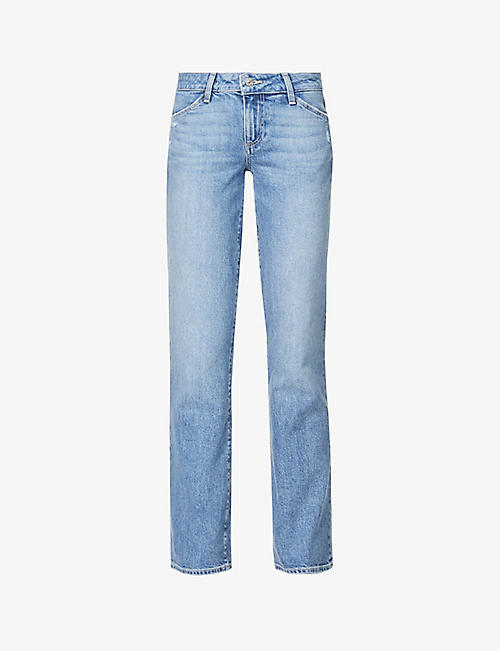 PAIGE: Sloane slim-fit low-rise stretch-denim jeans