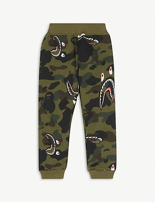 A BATHING APE: Cotton camouflage-print jogging bottoms 2-16 years