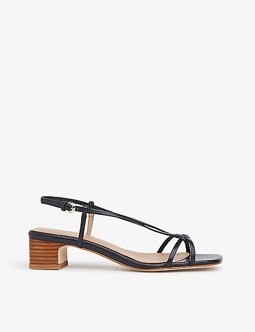 LK BENNETT: Sabrina braided leather heeled sandals