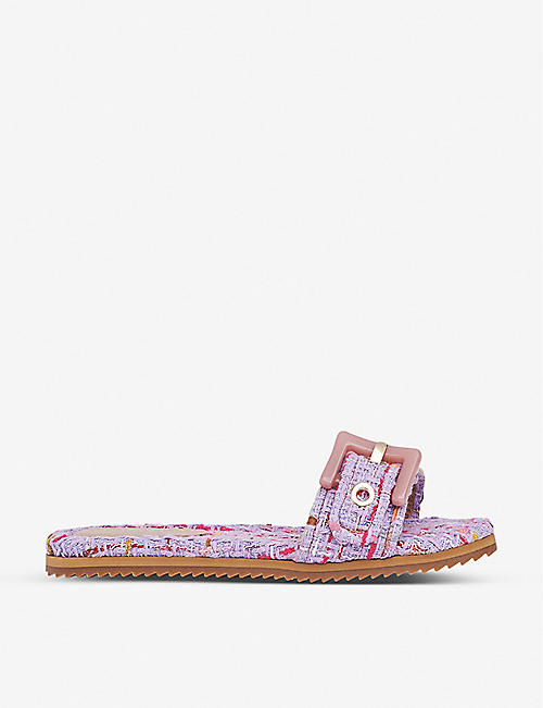 LK BENNETT: Robyn buckle strap tweed sandals