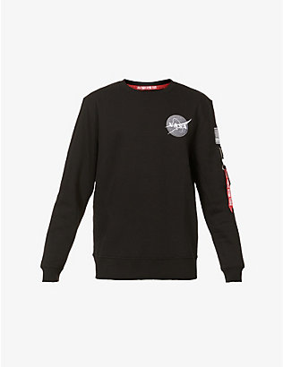 ALPHA INDUSTRIES: Space Shuttle cotton-blend jersey sweatshirt