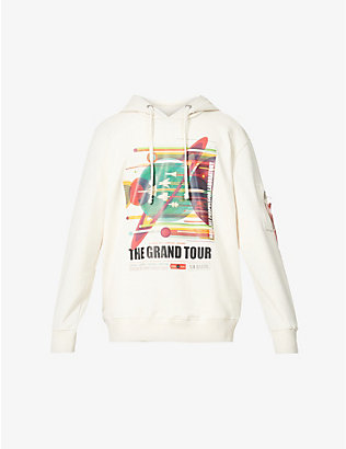ALPHA INDUSTRIES: Grand Tour graphic-print cotton-blend hoody