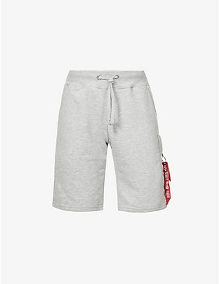 ALPHA INDUSTRIES: Cargo relaxed-fit cotton-blend shorts