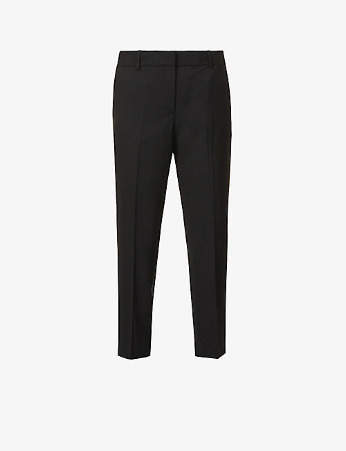 THEORY: Treeca cropped slim-leg mid-rise stretch-wool trousers