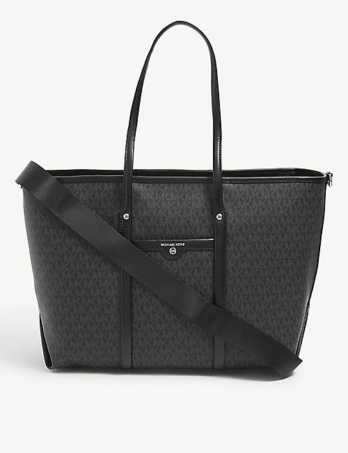 MICHAEL MICHAEL KORS: Beck logo-print coated-canvas tote bag