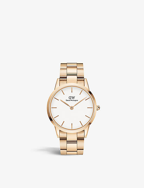 DANIEL WELLINGTON: DW00100343 Iconic Link stainless-steel Japanese Quartz watch