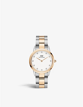 DANIEL WELLINGTON: DW00100358 Iconic Link Lumine stainless-steel Japanese Quartz watch