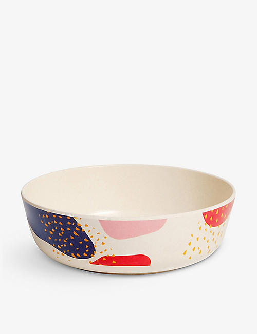 POKETO: Dots & Marks bamboo bowl set of four