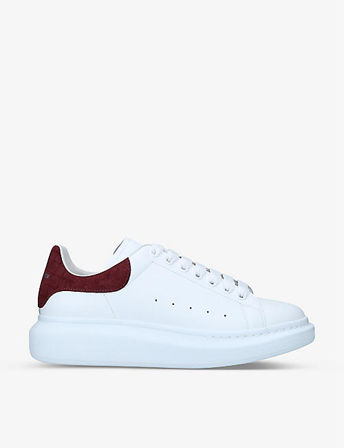 ALEXANDER MCQUEEN: Men's Show contrast-panel leather platform trainers