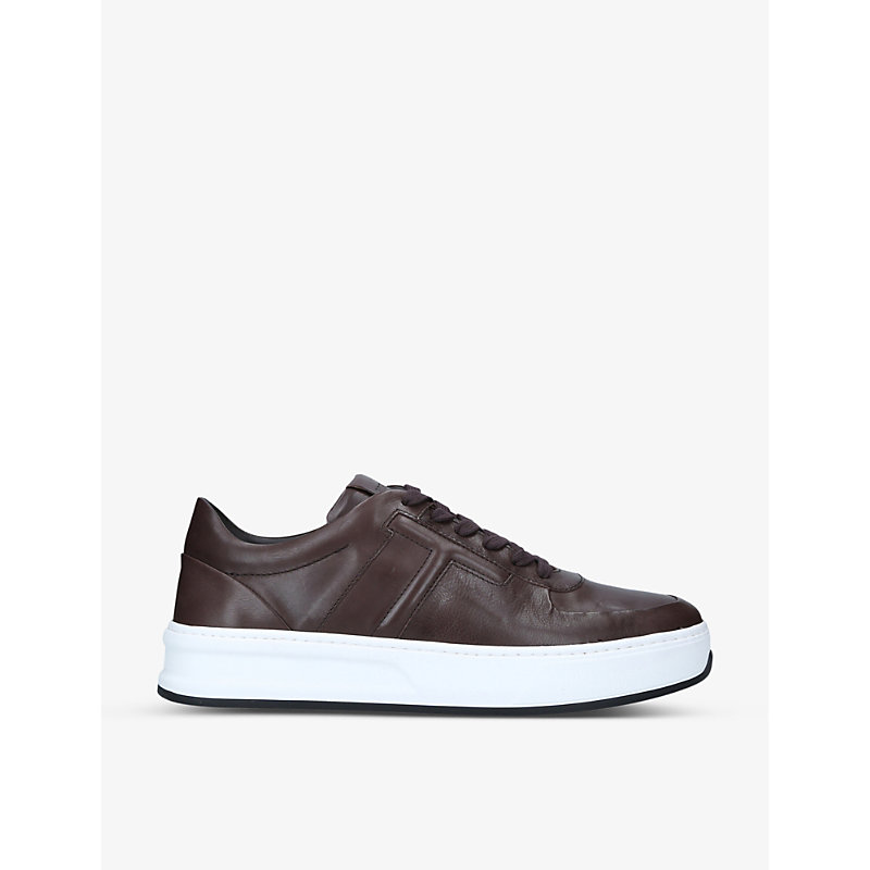 Tod's Sneakers CASSETTA LEATHER PLATFORM MID-TOP TRAINERS