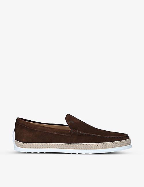 TODS: Pontofola contrast-sole suede moccasins