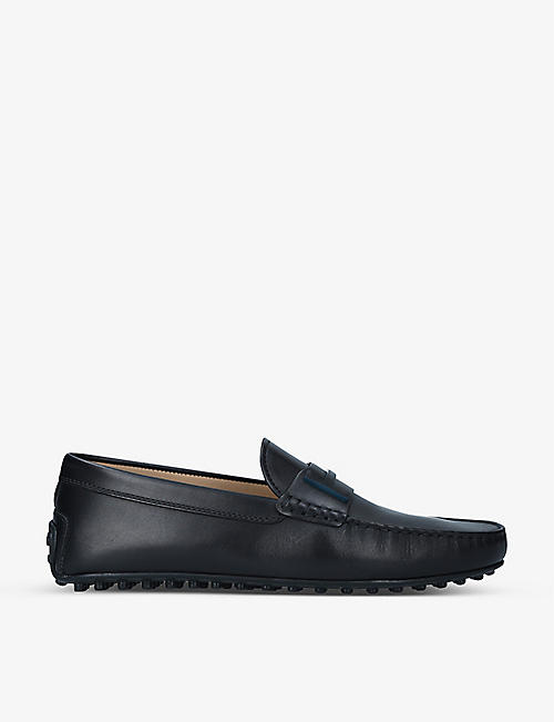TODS: Gommino T-bar leather driving shoes