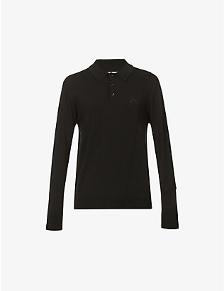 A-COLD-WALL: Long-sleeved wool polo shirt