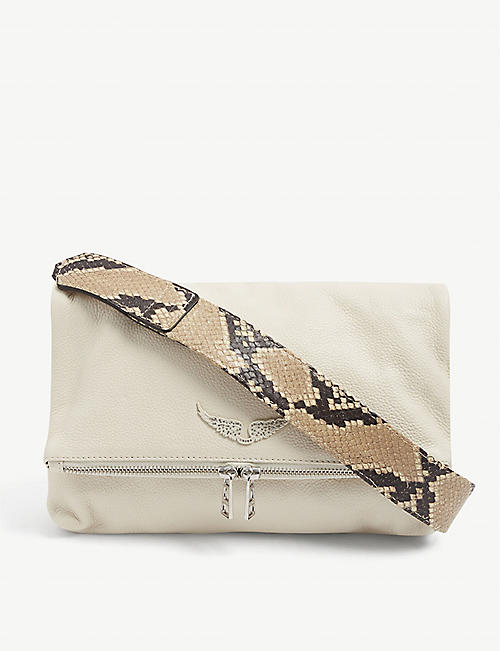 ZADIG&VOLTAIRE: Rocky snakeskin-print leather cross-body bag
