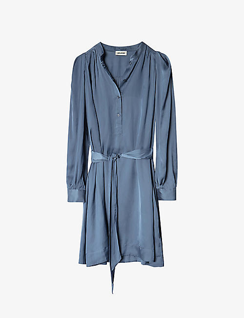 ZADIG&VOLTAIRE: Retouch belted satin mini dress