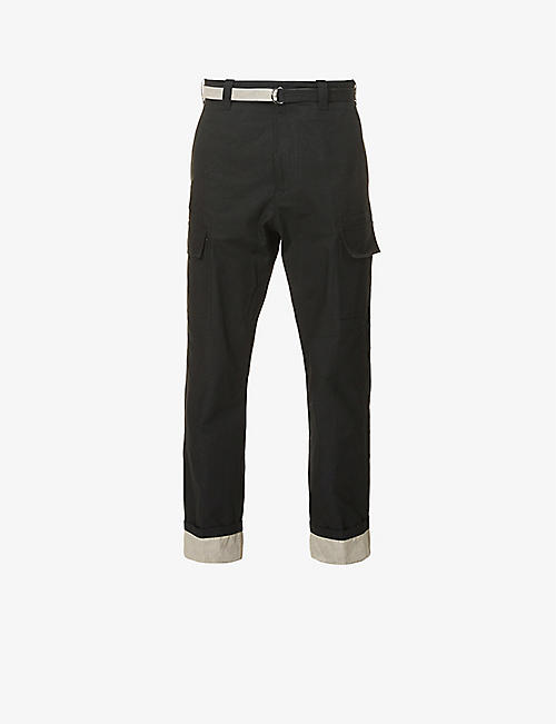 CRAIG GREEN: Colour-blocked tapered cotton cargo trousers