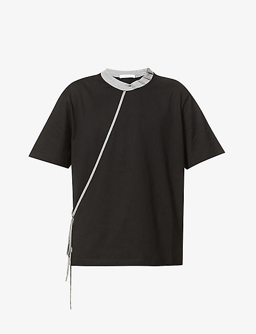 CRAIG GREEN: Laced relaxed-fit cotton-jersey T-shirt
