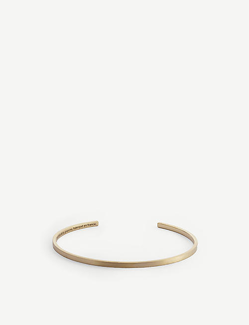 LE GRAMME: Ribbon Le 7g 18ct yellow-gold bracelet