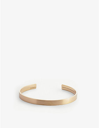 LE GRAMME: Ribbon Le 21g 18ct yellow-gold bracelet