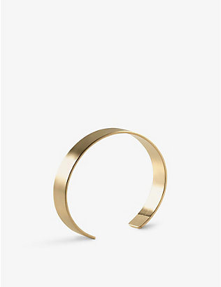 LE GRAMME: Ribbon Le 33g yellow-gold cuff bracelet