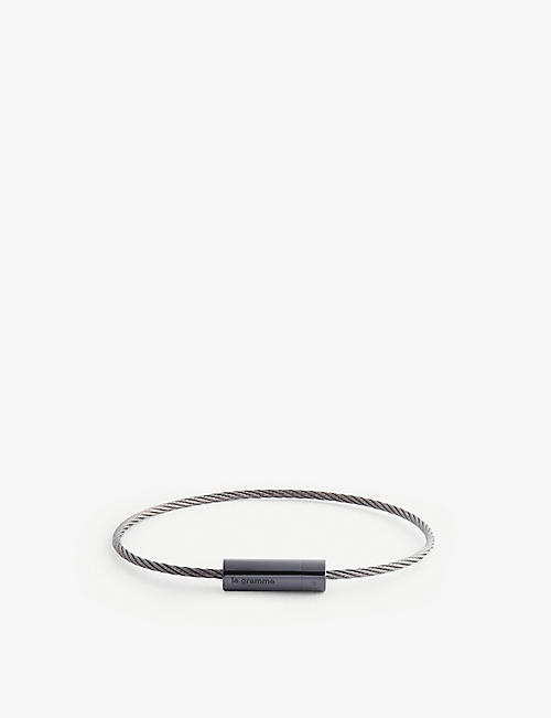 LE GRAMME: Cable Le 5g silver, ceramic and titanium bracelet