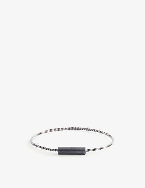 LE GRAMME: Cable Le 5g titanium, silver and ceramic bracelet