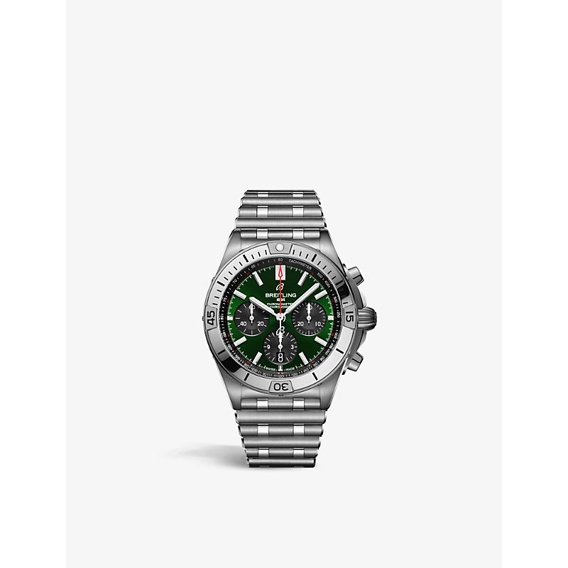 BREITLING AB01343A1L1A1 CHRONOMAT B01 42 BENTLEY STAINLESS-STEEL SELF-WINDING WATCH