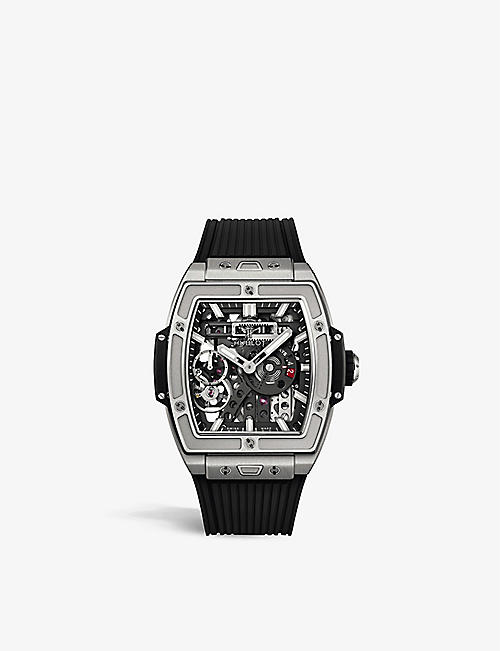 HUBLOT: 614.NX.1170.RX Spirit of Big Bang Meca-10 titanium and rubber strap watch