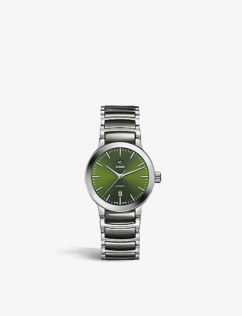 RADO: R30011312 Centrix Automatic high-tech ceramic and stainless-steel watch