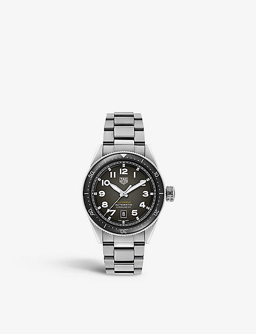 TAG HEUER: WBE5114.EB0173 Autavia stainless steel watch