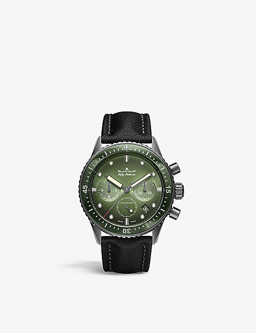 BLANCPAIN:5200 0153 B52A Fifty Fathoms 不锈钢帆布腕表