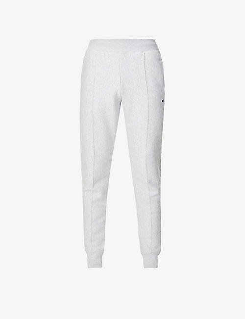 CHAMPION: Logo-embroidered cotton-blend jogging bottoms