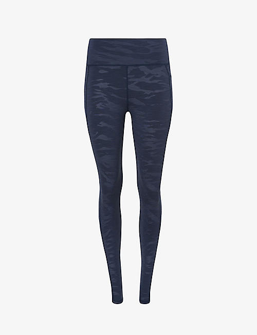 SWEATY BETTY: Super Sculpt printed high-rise stretch-jersey leggings
