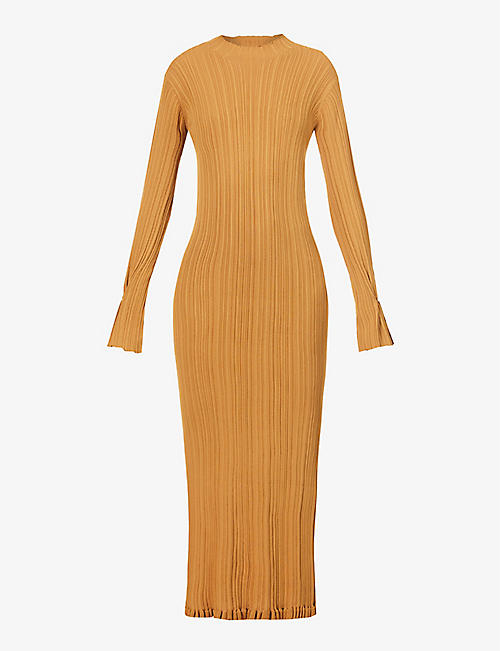 HOLZWEILER: Hadeland high-neck stretch-knit midi dress
