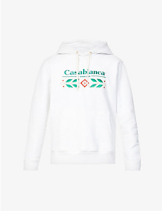CASABLANCA: Graphic-pattern relaxed-fit organic-cotton hoody