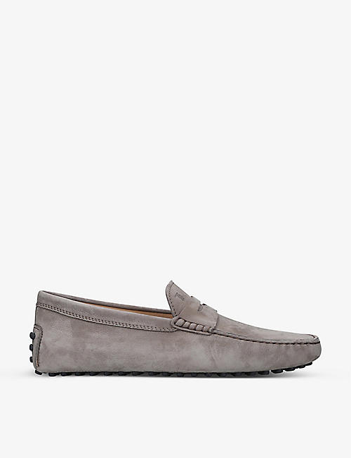 TODS: Driver suede loafers
