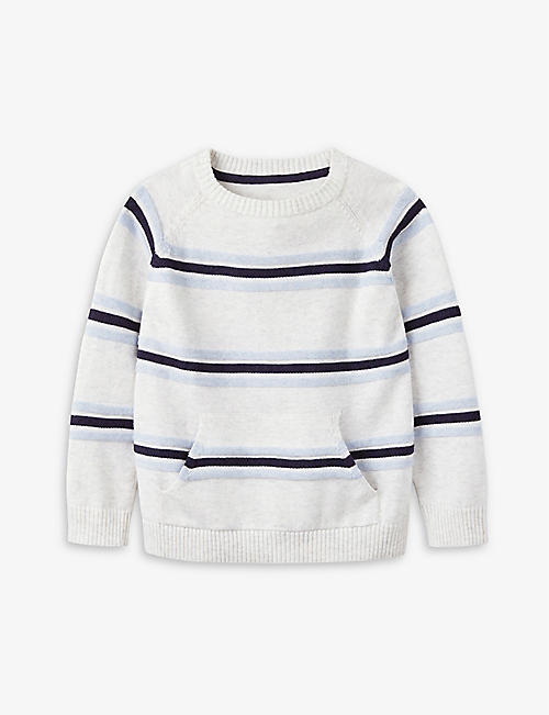 THE LITTLE WHITE COMPANY: Striped cotton jumper 1-6 years