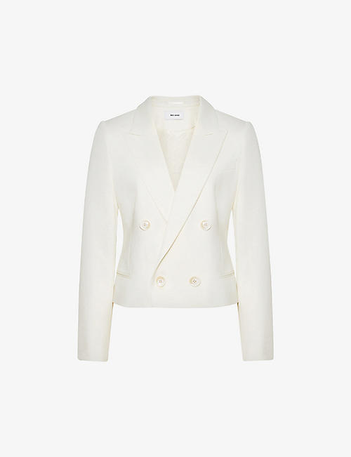 REISS: Aleida double-breasted wool-blend blazer