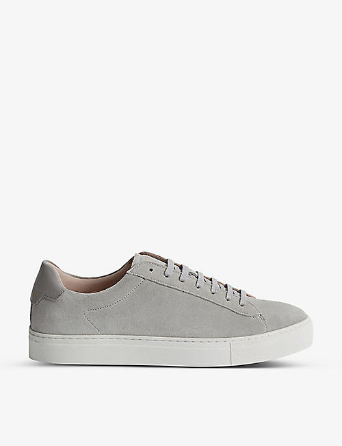 REISS: Finley suede low-top trainers