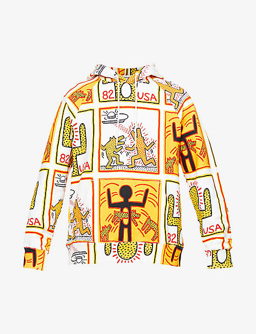 ETUDES: Études x Keith Haring graphic print organic cotton-jersey hoody