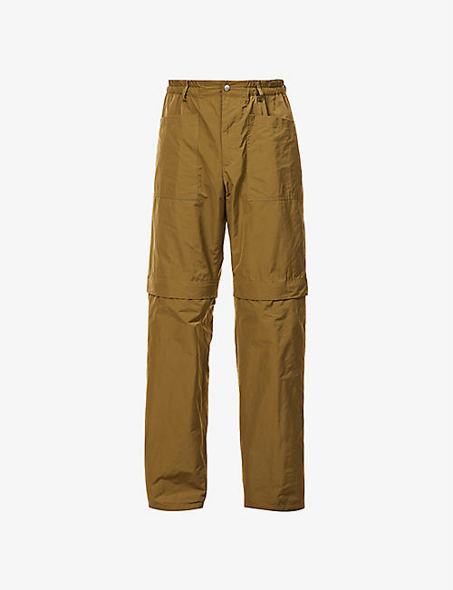 DRIES VAN NOTEN: Patch-pocket shell trousers
