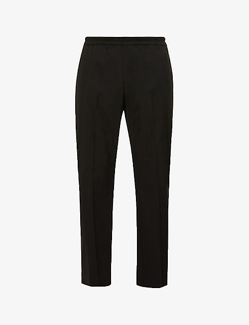 DRIES VAN NOTEN: Relaxed-fit cotton-blend trousers