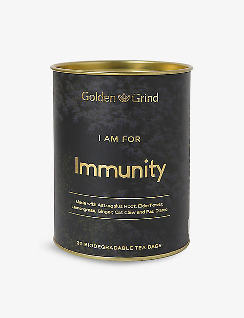 GOLDEN GRIND: Immunity tea bags pack of 30