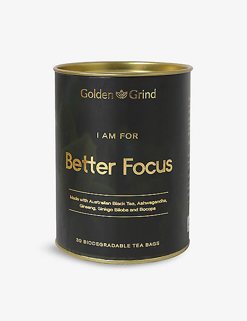 GOLDEN GRIND: Focus and Energy tea 30 bags